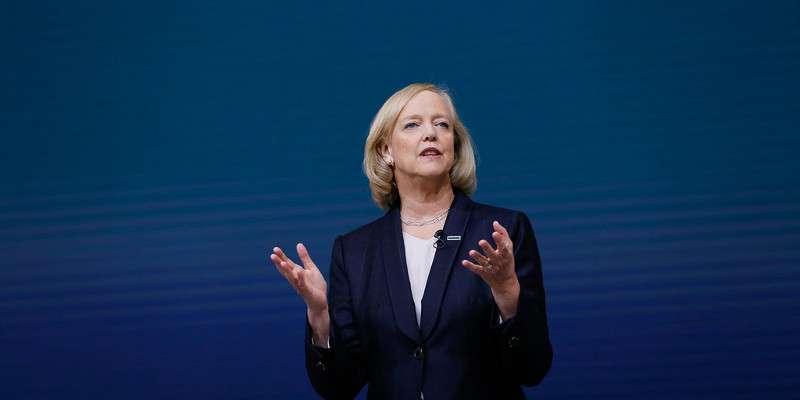 Foto: Meg Whitman, presidenta y CEO de Hewlett Packard Enterprise (HPE)